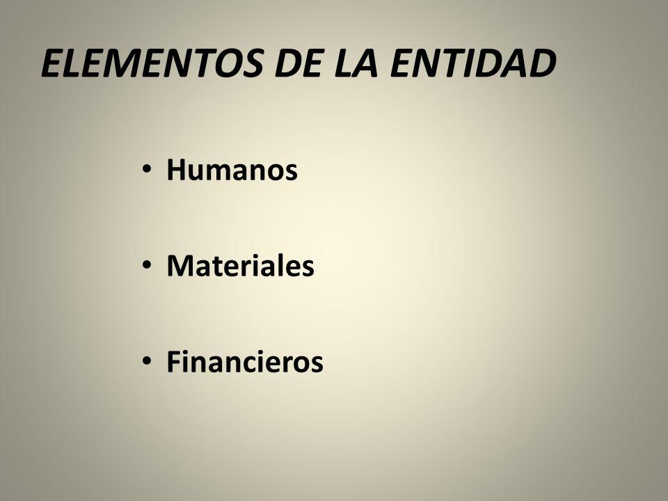 ELEMENTOS DE LA ENTIDAD