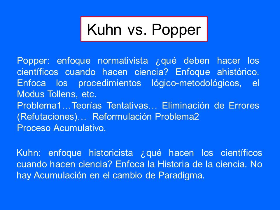 kuhn vs popper vs lakatos Kuhn vs popper vs lakatos vs feyerabend contested terrain or fruitful collaboration in this paper we examine the alleged war between kuhn and popper, extending the discussion to incorporate two of their lesser known, but important, protagonists, lakatos and feyerabend.