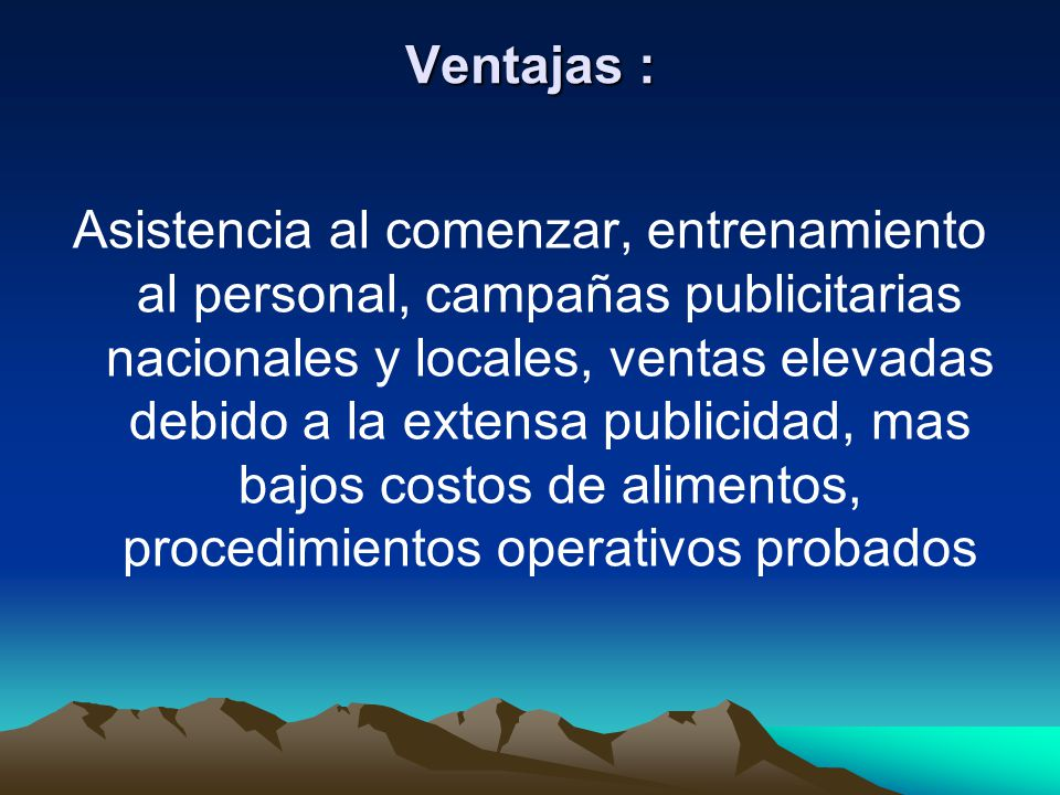 Ventajas :