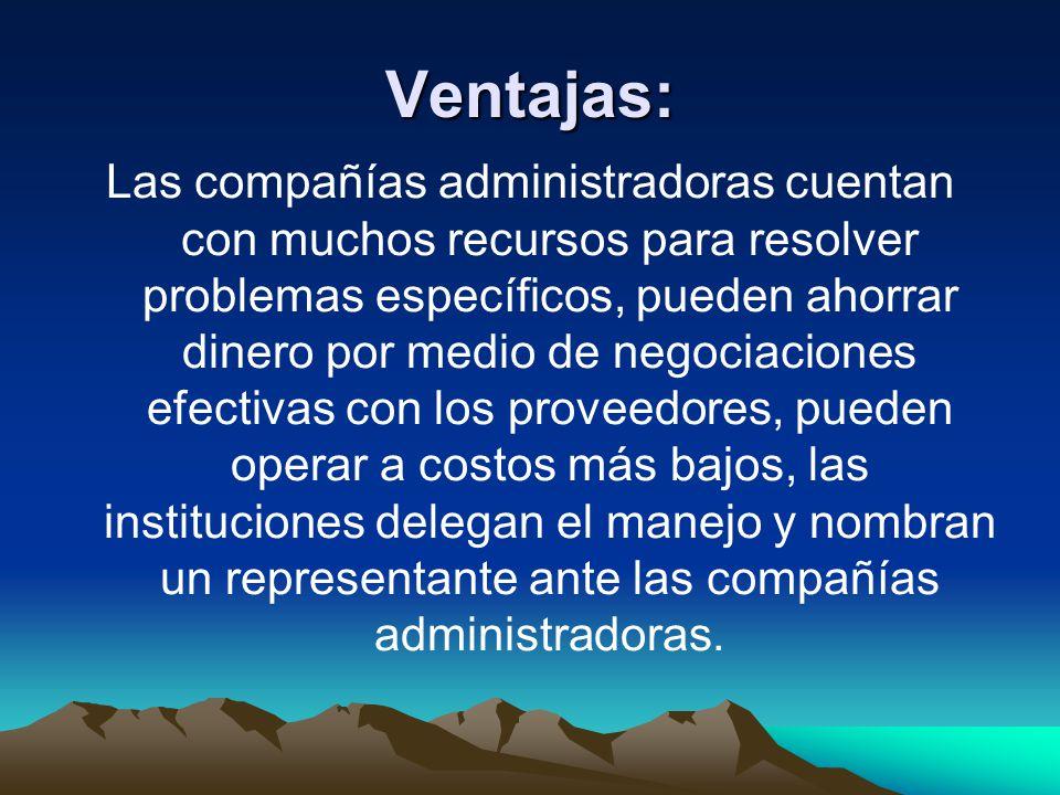 Ventajas: