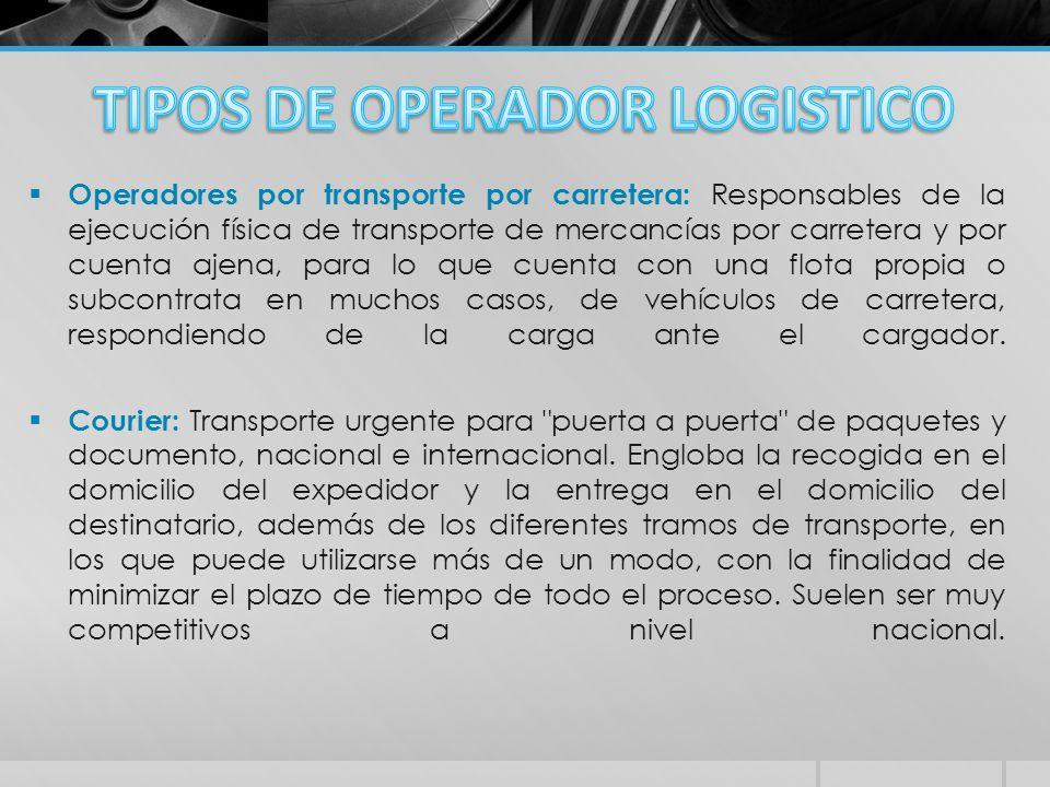 TIPOS DE OPERADOR LOGISTICO