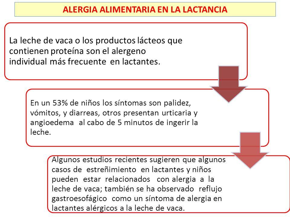 ALERGIA ALIMENTARIA EN LA LACTANCIA
