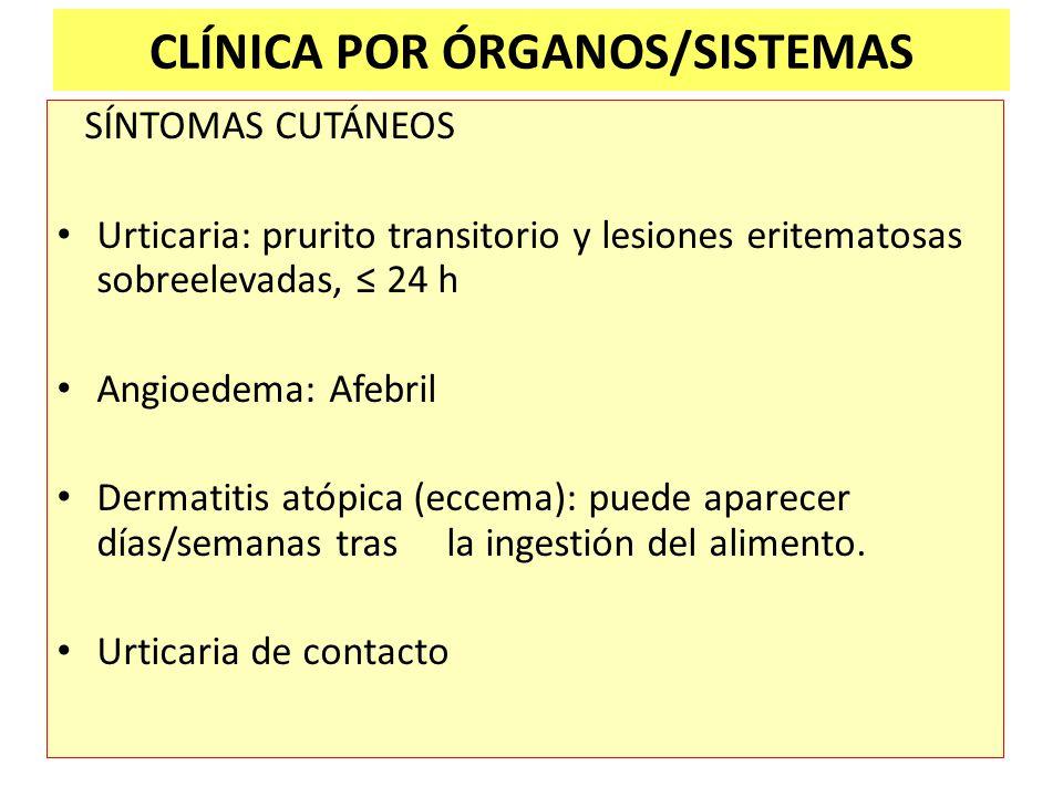 CLÍNICA POR ÓRGANOS/SISTEMAS