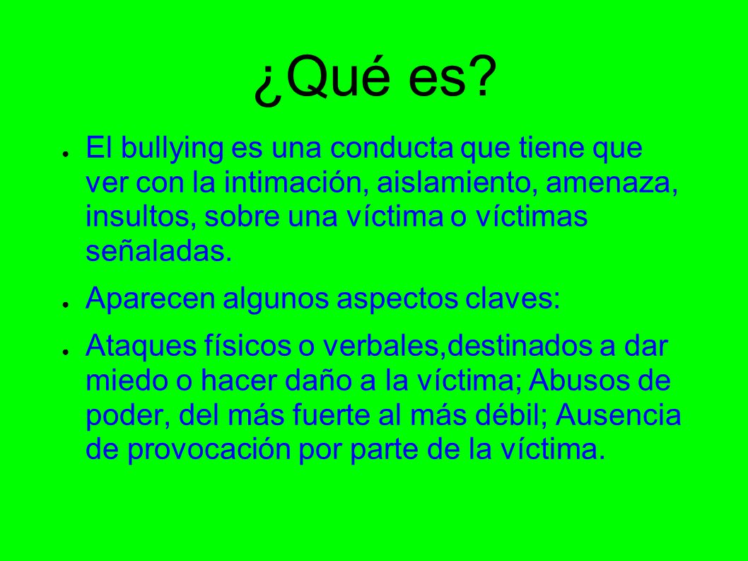 Bullying acoso escolar ppt descargar for La zanahoria es una hortaliza