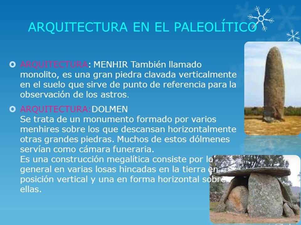 Arquitectura en la prehistoria hay tres etapas el for En que consiste la arquitectura