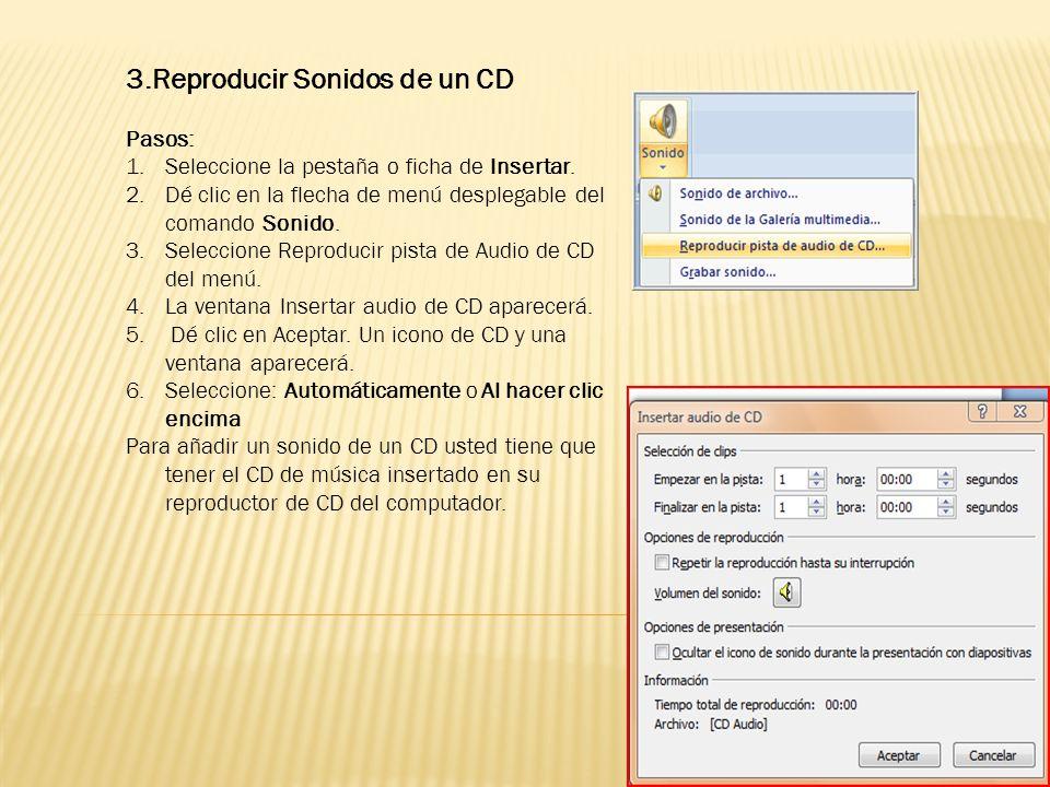 3.Reproducir Sonidos de un CD