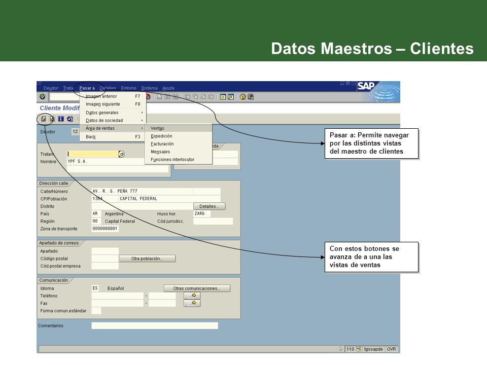 Datos Maestros – Clientes