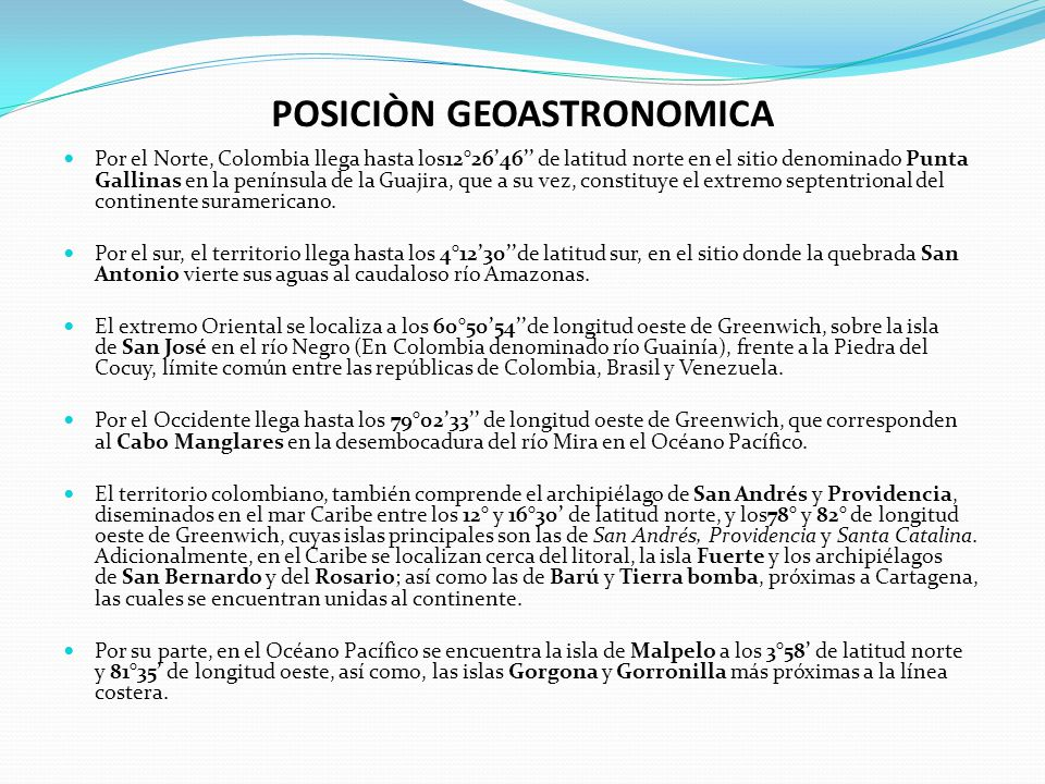 POSICIÒN GEOASTRONOMICA