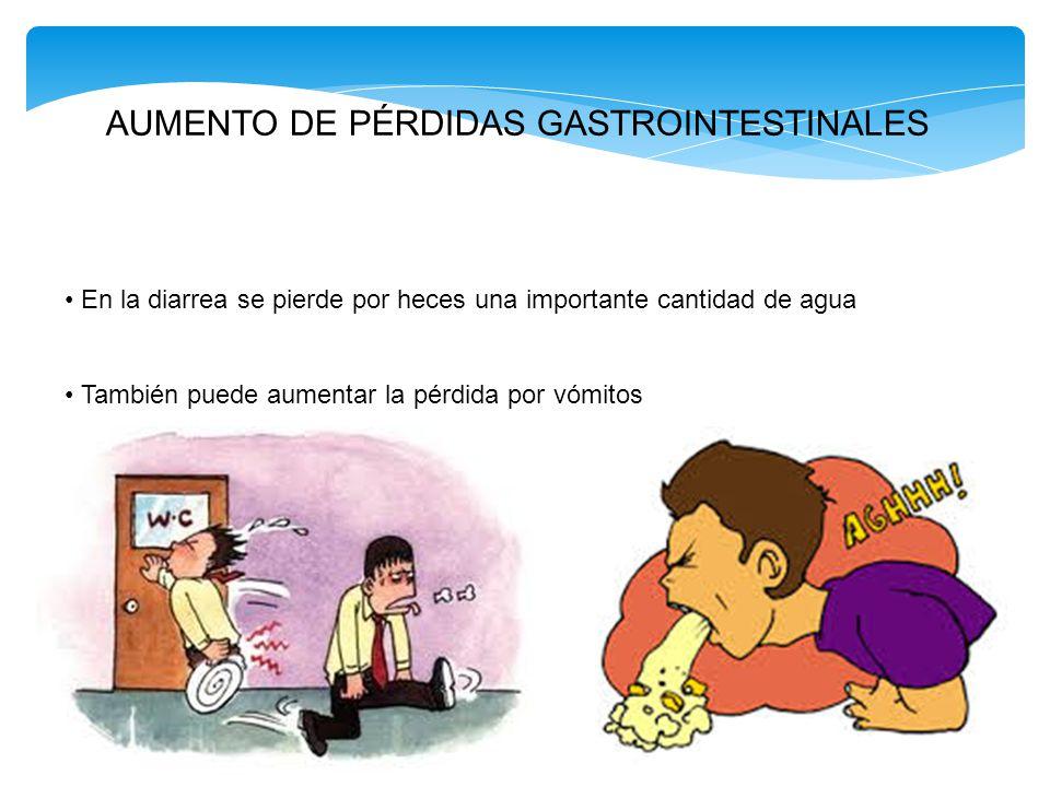 AUMENTO DE PÉRDIDAS GASTROINTESTINALES