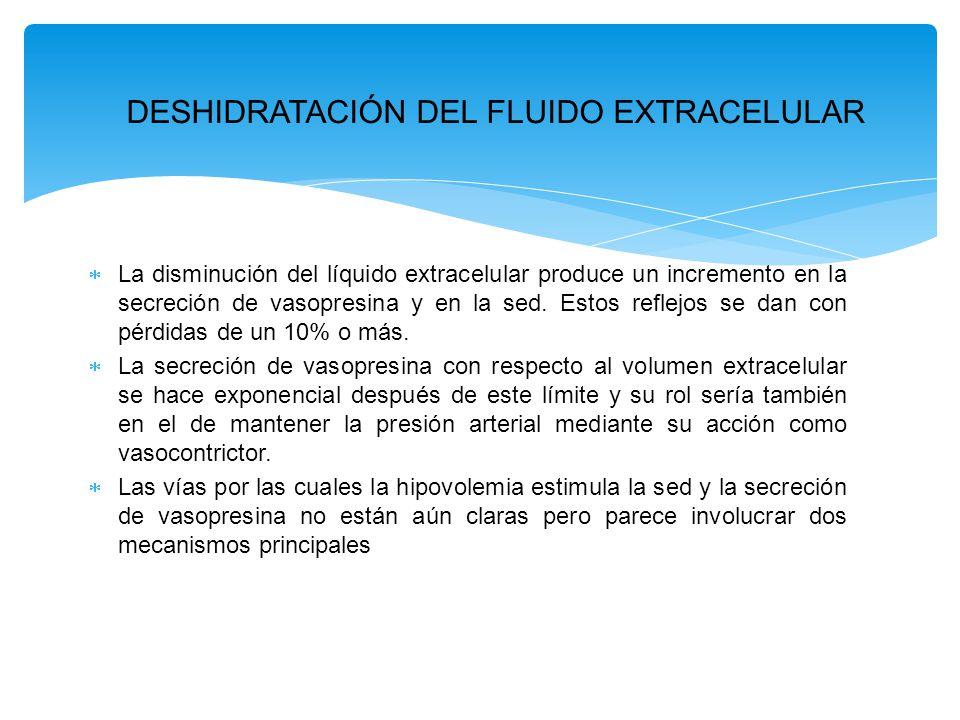 DESHIDRATACIÓN DEL FLUIDO EXTRACELULAR