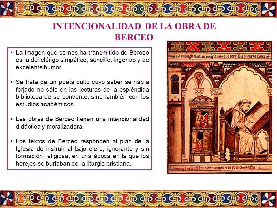 INTENCIONALIDAD DE LA OBRA DE BERCEO