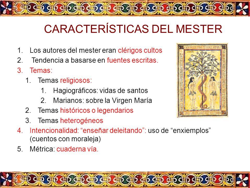 CARACTERÍSTICAS DEL MESTER