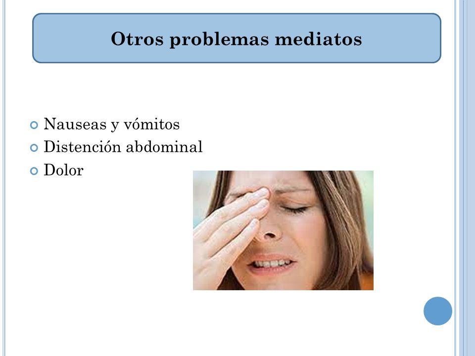 Otros problemas mediatos