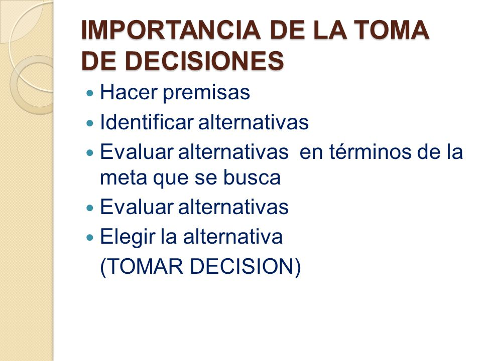 la importancia de la toma decisiones Importancia en la toma de decisiones  la importancia de tomar decisiones - duration:  relevancias de los costos en la toma de decisiones.