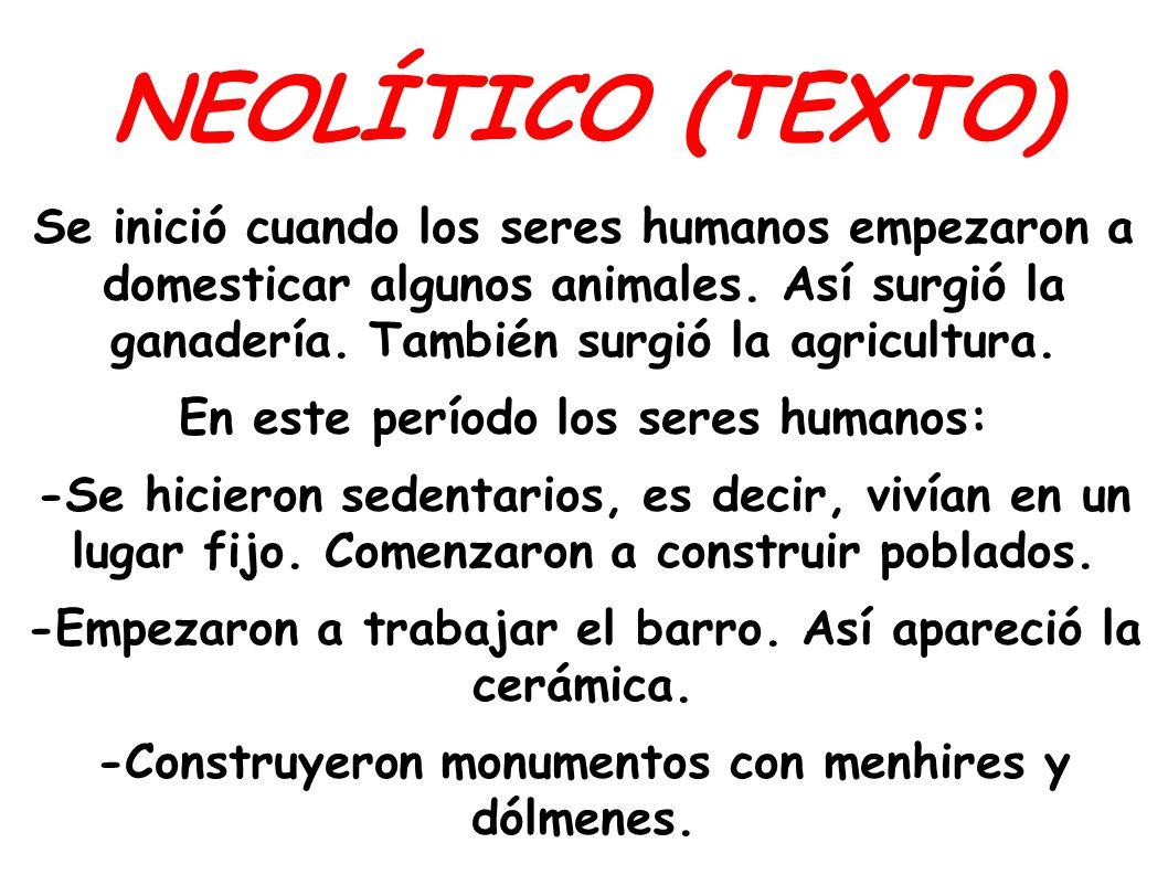 NEOLÍTICO (TEXTO)