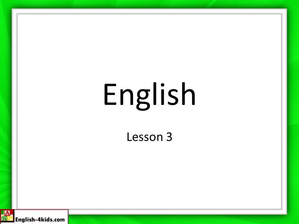 English Lesson 3