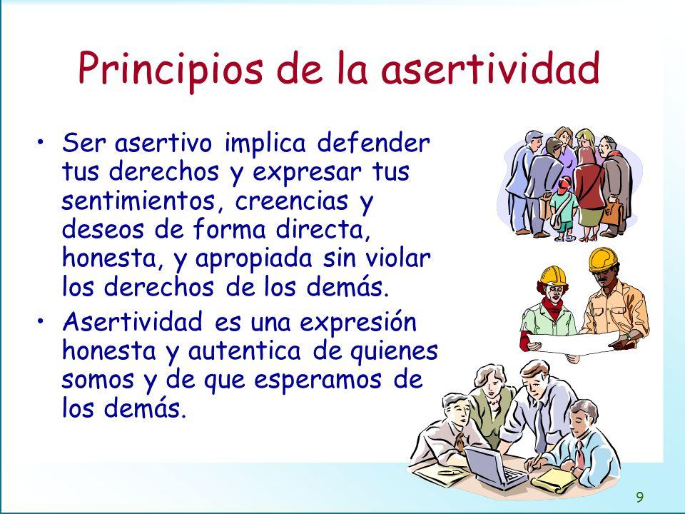 Ser asertivo nos lleva a: