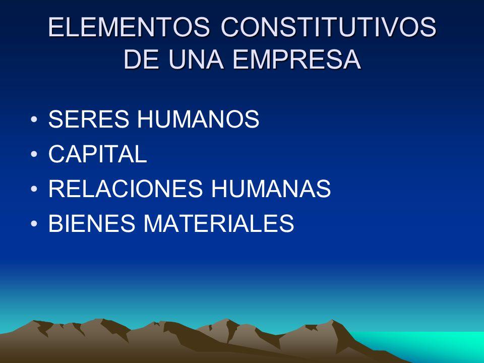 ELEMENTOS CONSTITUTIVOS DE UNA EMPRESA