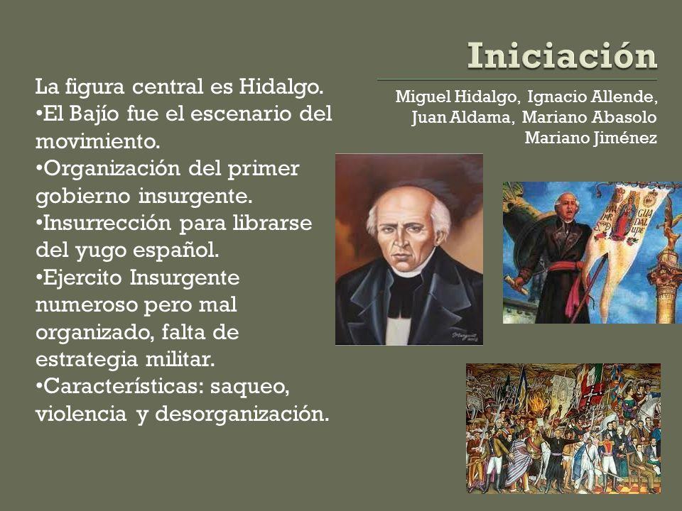 Iniciación La figura central es Hidalgo.