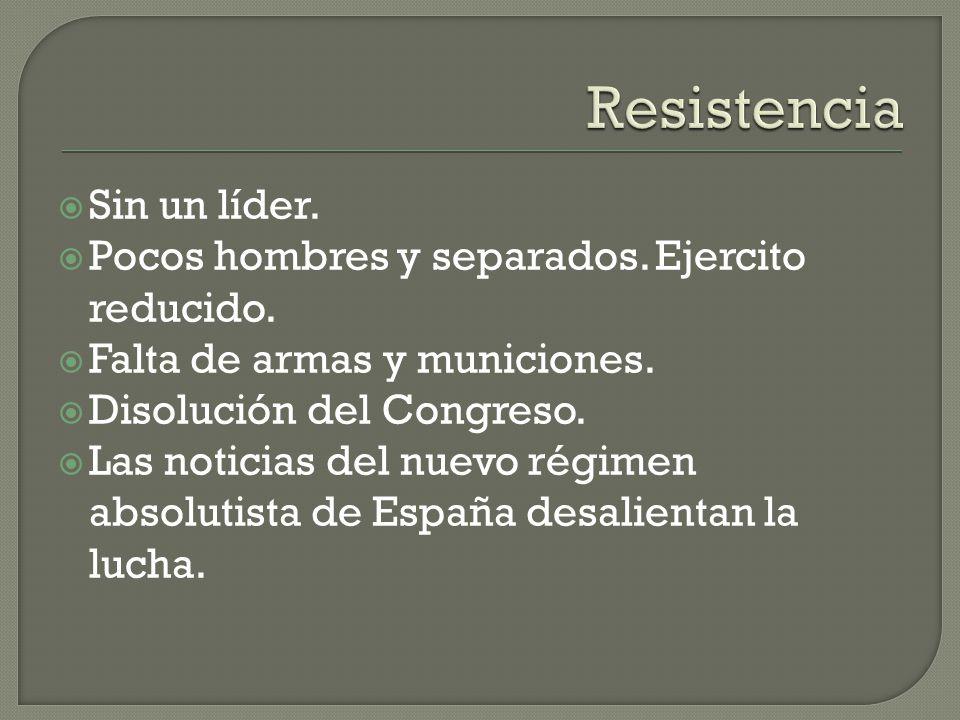 Resistencia Sin un líder.