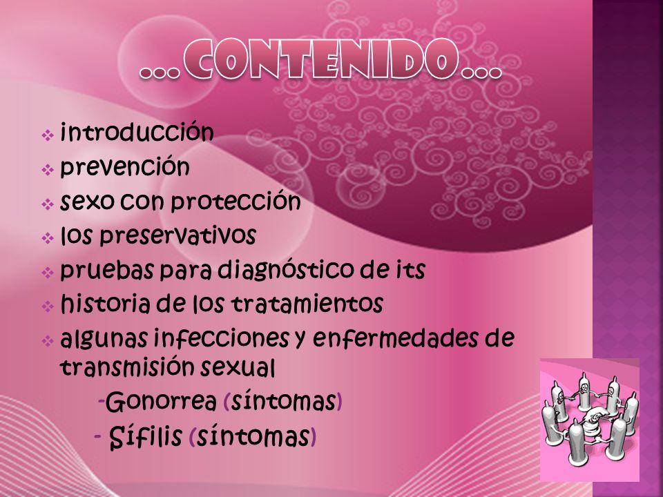 …CONTENIDO… - Sífilis (síntomas) introducción prevención