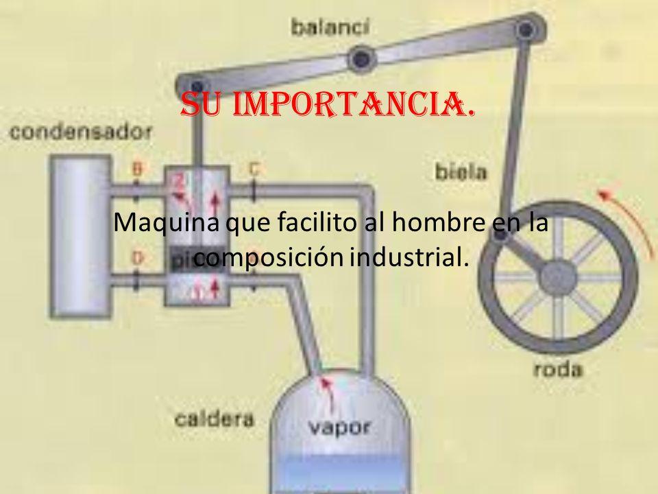 Maquina que facilito al hombre en la composición industrial.