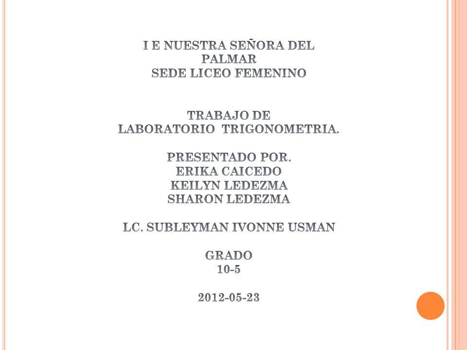 I E NUESTRA SEÑORA DEL PALMAR SEDE LICEO FEMENINO