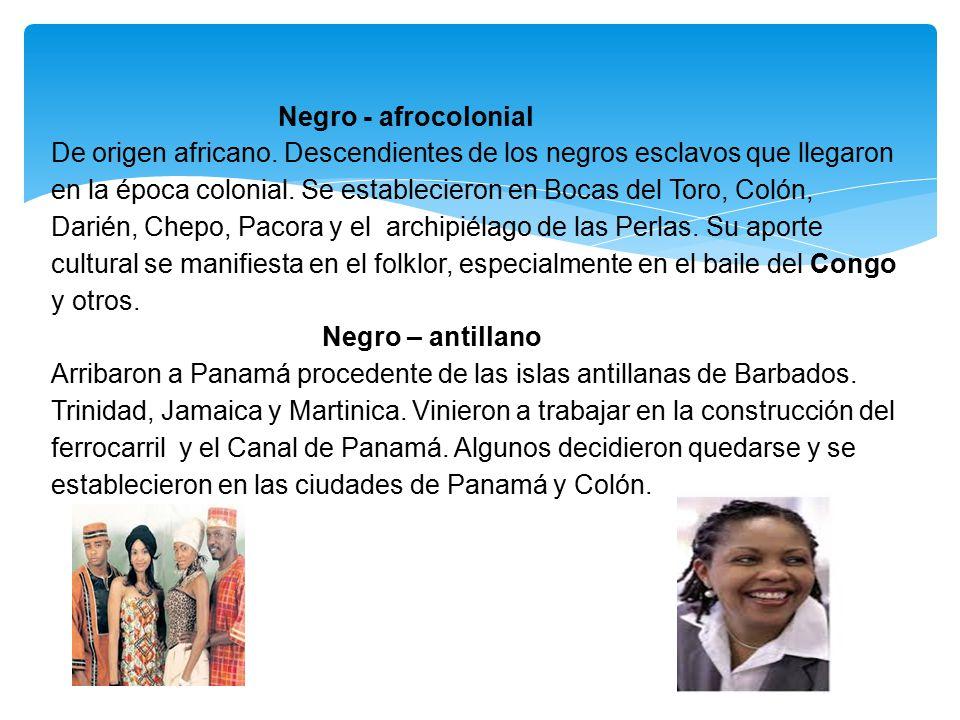 Negro - afrocolonial De origen africano