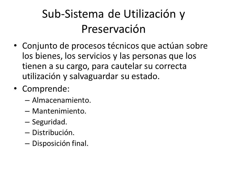 Sub-Sistema de Utilización y Preservación