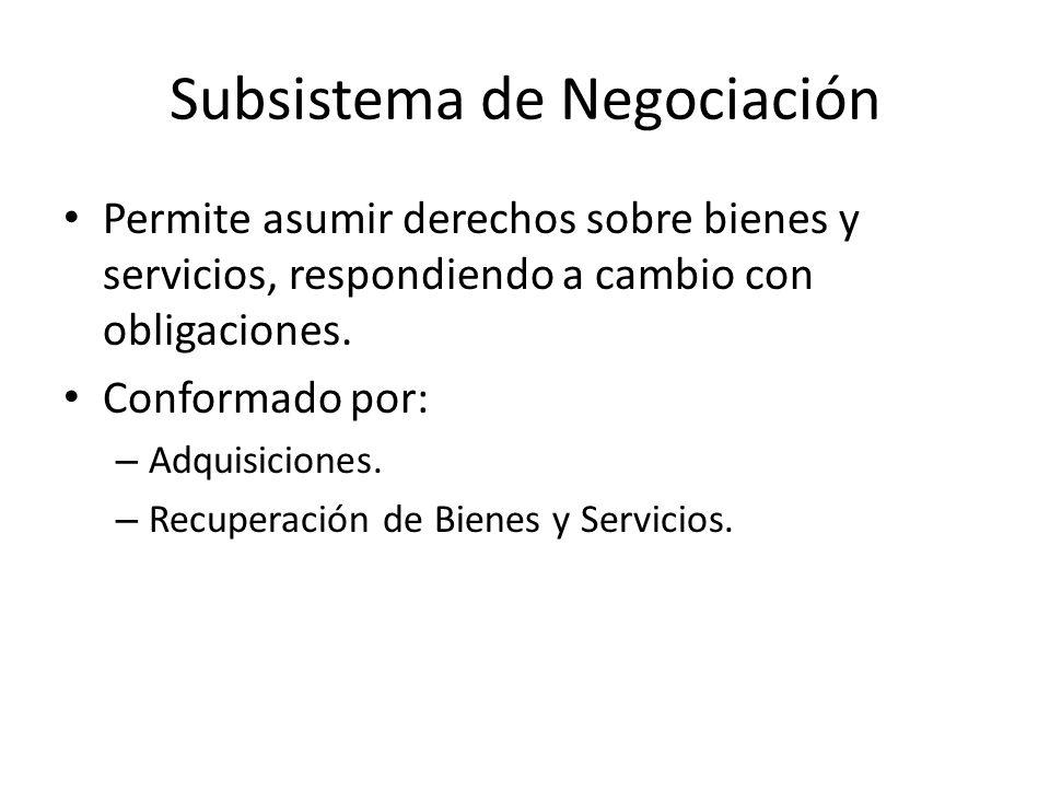 Subsistema de Negociación