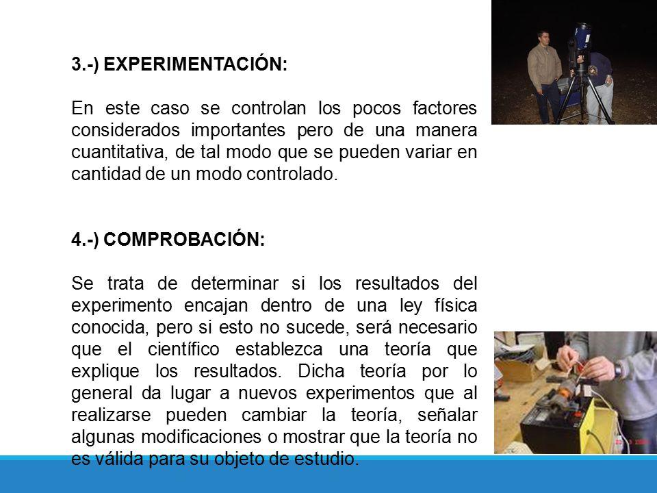 3.-) EXPERIMENTACIÓN:
