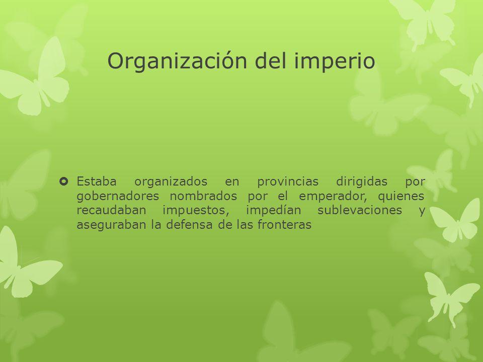 Organización del imperio