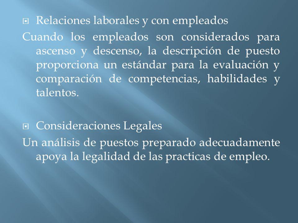 Relaciones laborales y con empleados