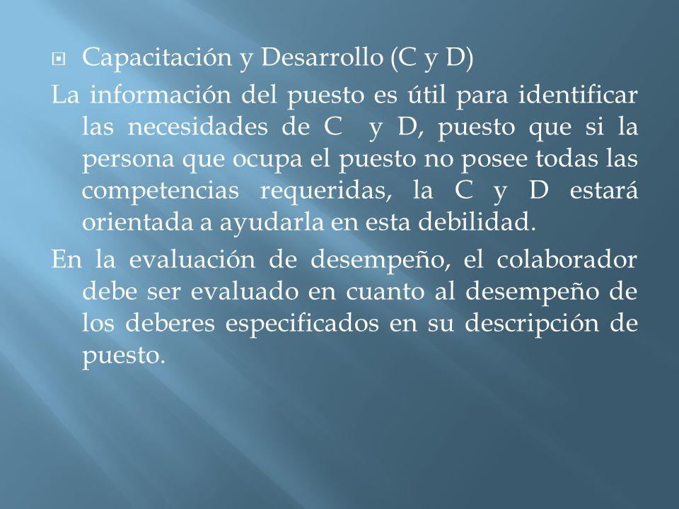 Capacitación y Desarrollo (C y D)