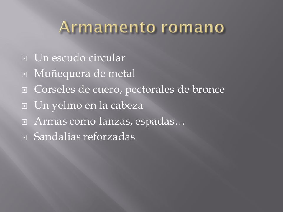Armamento romano Un escudo circular Muñequera de metal