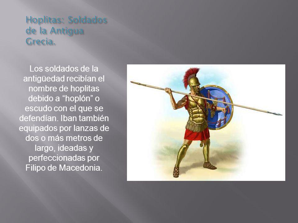 Hoplitas: Soldados de la Antigua Grecia.