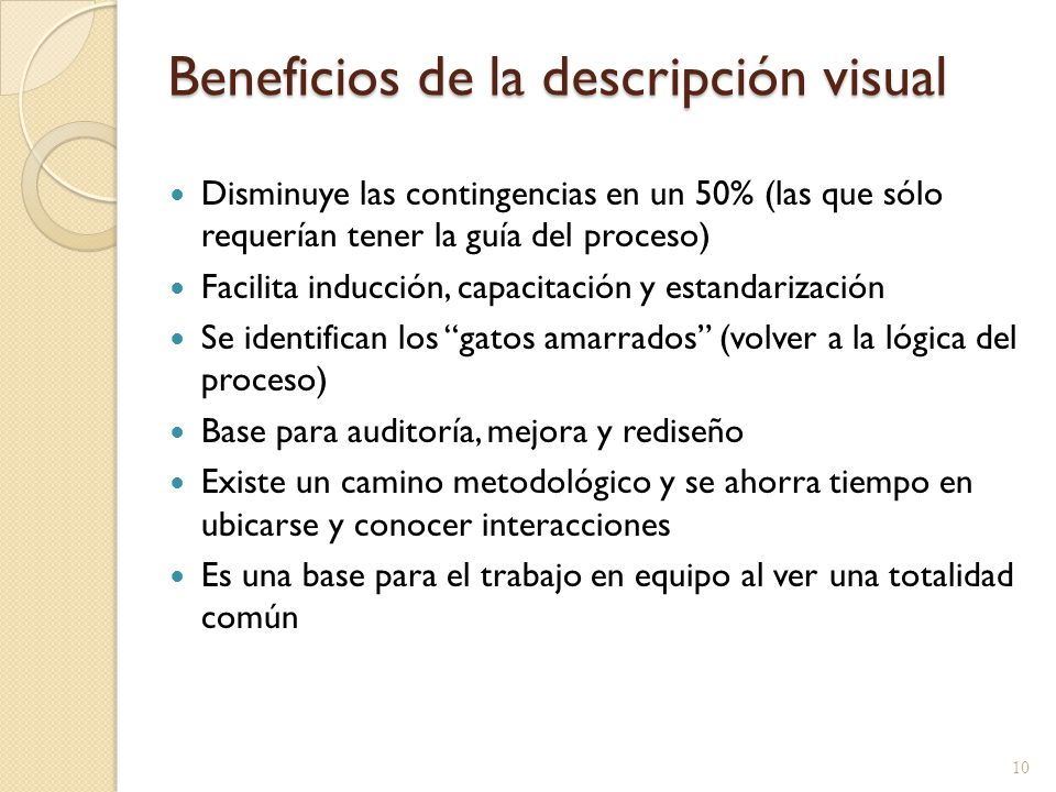 Beneficios de la descripción visual