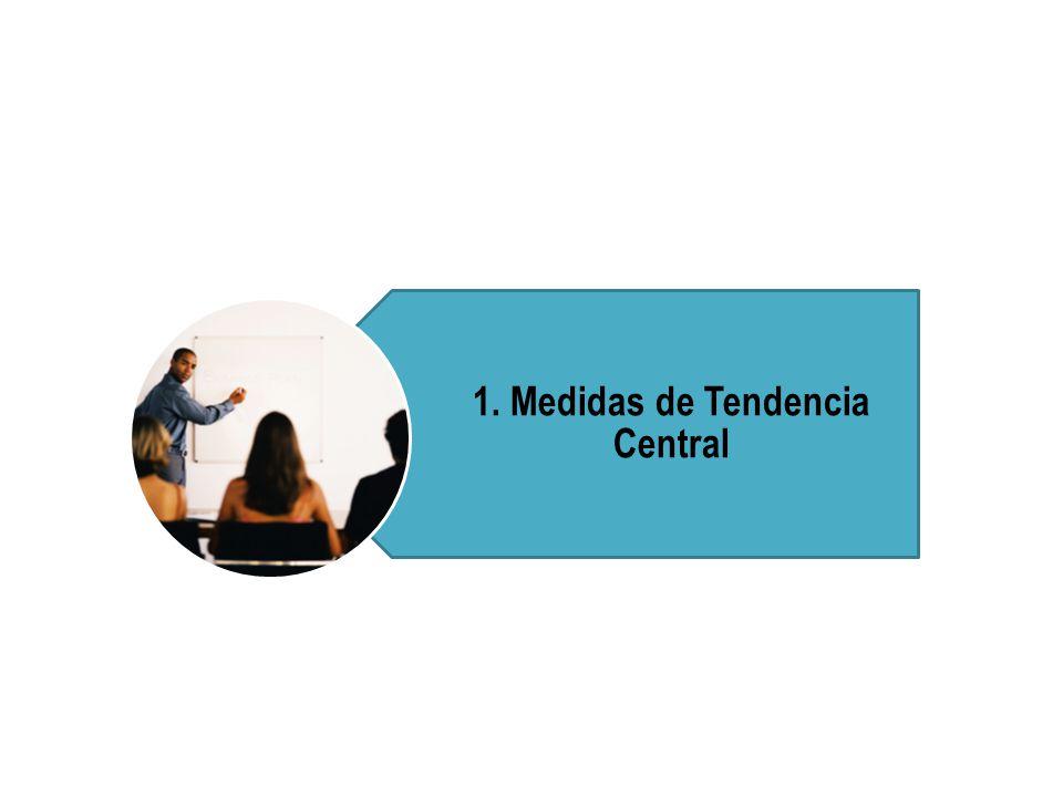 1. Medidas de Tendencia Central