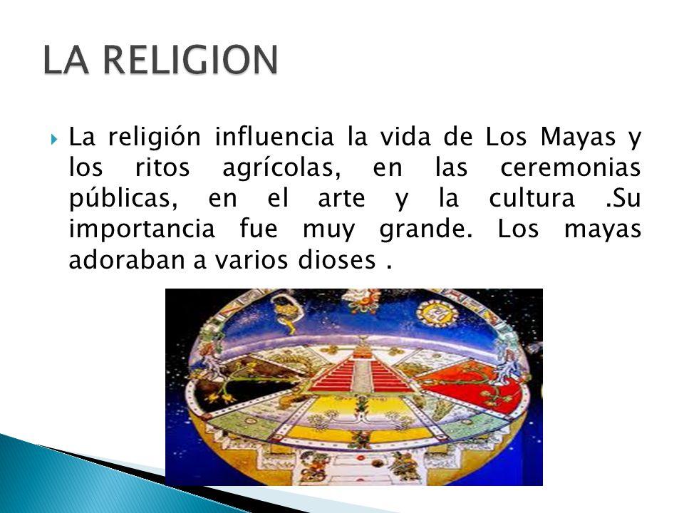 La religion la religi n influencia la vida de los mayas y for Informacion de la cultura maya