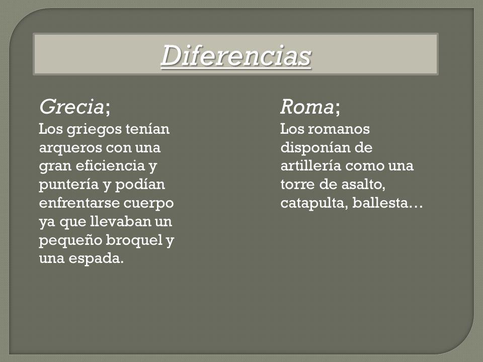 Diferencias Grecia; Roma;