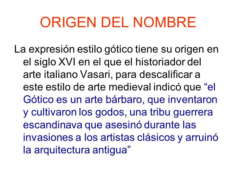 Tema 21 arte g tico caracteres generales de la for Cual es el significado de arquitectura