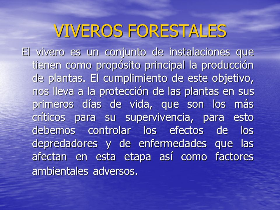Viveros forestales generalidades ppt video online descargar for Diseno de un vivero