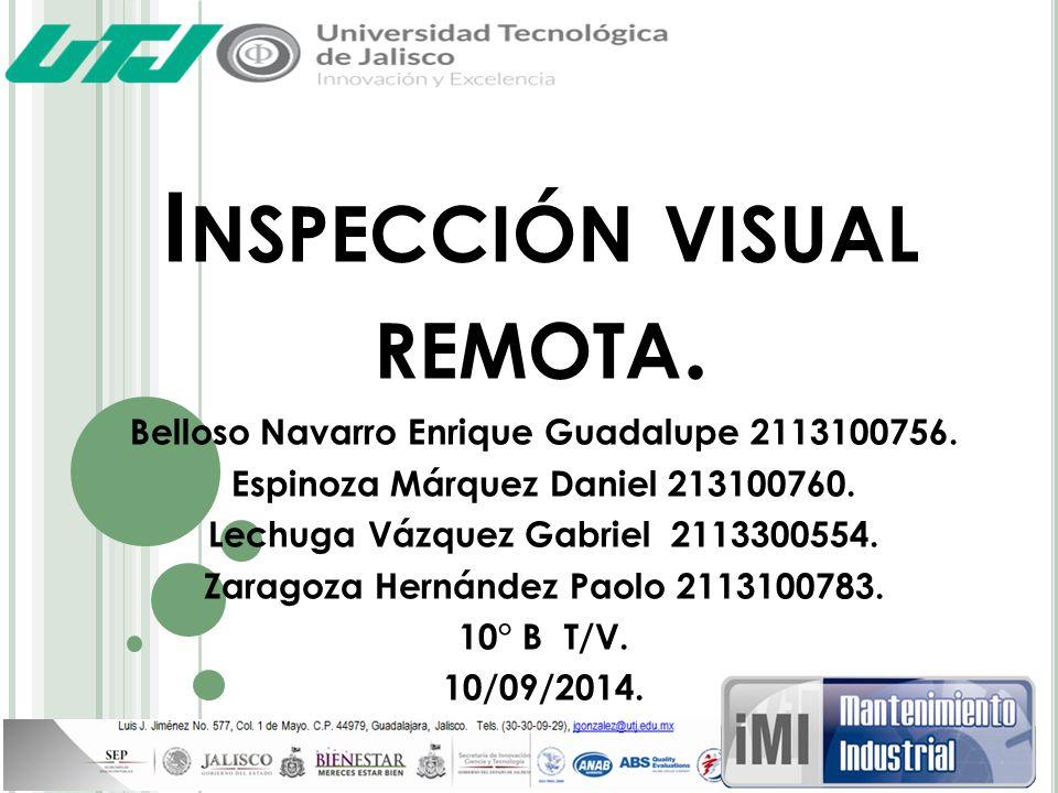 Inspección visual remota.