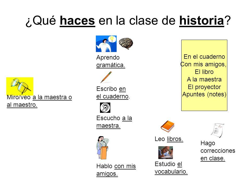 ¿Qué haces en la clase de historia