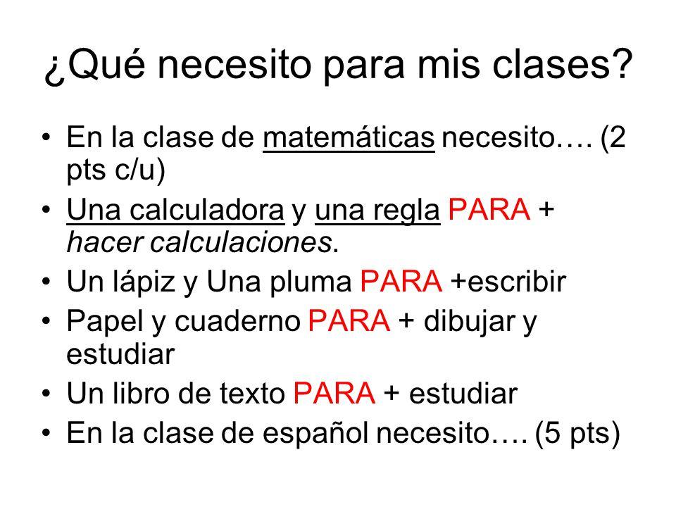 ¿Qué necesito para mis clases