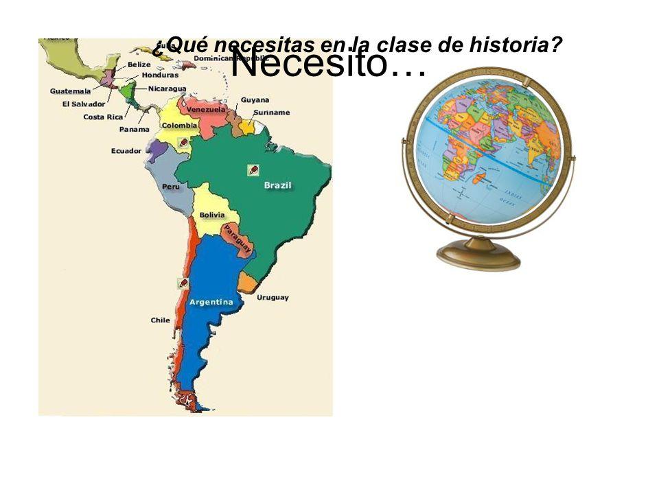 ¿Qué necesitas en la clase de historia