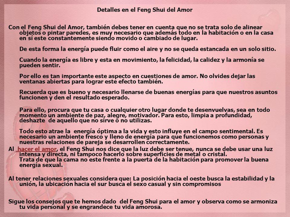 Feng shui con amor feng shui bagua area del amor la alcoba - Objetos feng shui ...