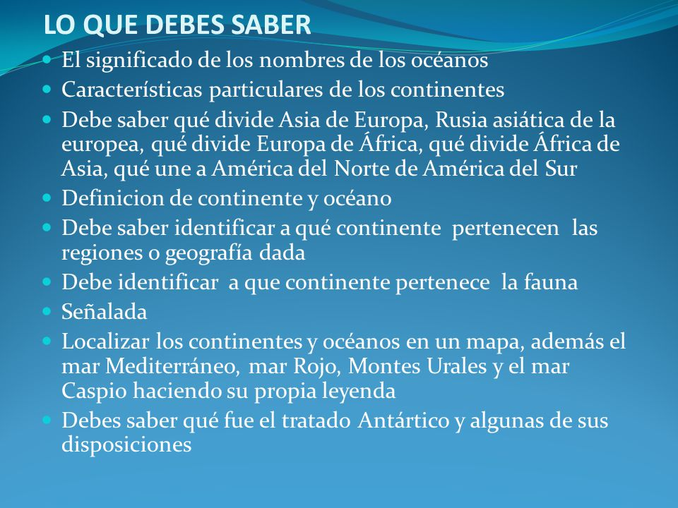 CARACTERISTICAS NOTABLES DE LOS CONTINENTES  ppt descargar