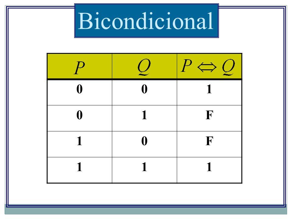 Bicondicional 1 F