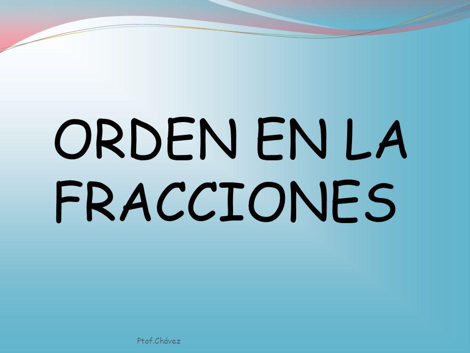 ORDEN EN LA FRACCIONES Ptof.Chávez